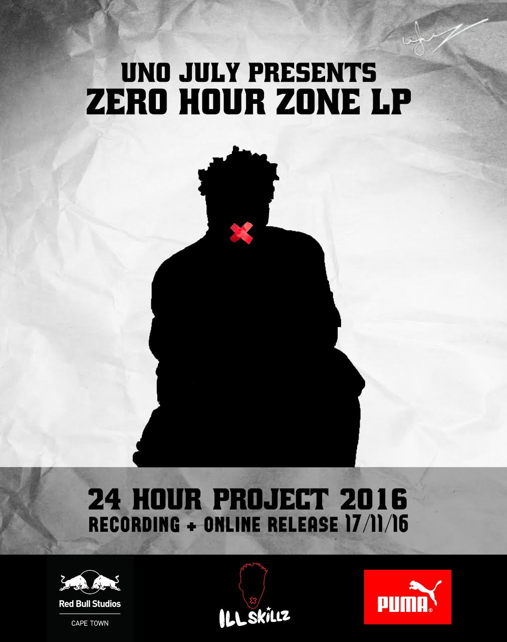 Uno July Aims To Record A Full Album In 24 hours Tomorrow 24 Hour Project Official Artwork