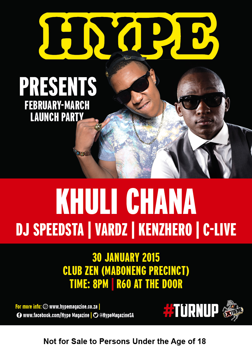 WIN & PARTY WITH HYPE & HUNTER'S EXTREME on 30 January A5 Flyer Hype sessions FEB 2015