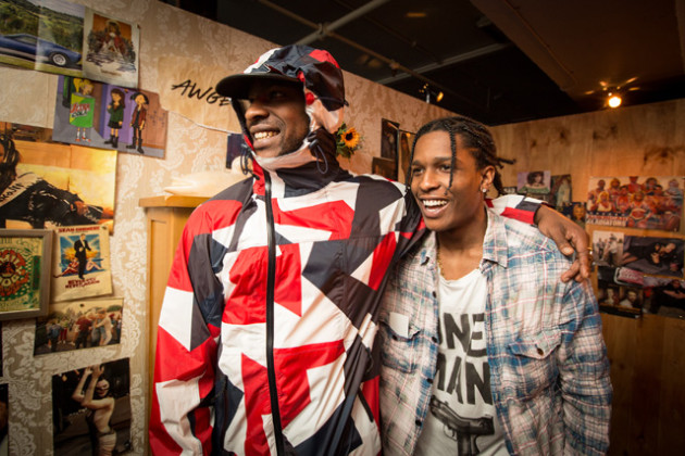 Skepta Drops New 'Ghost Ride' Video Ft. A$AP Rocky & A$AP Nast [Watch] AAP Rocky x GUESS Originals Skepta and Rocky 630x420