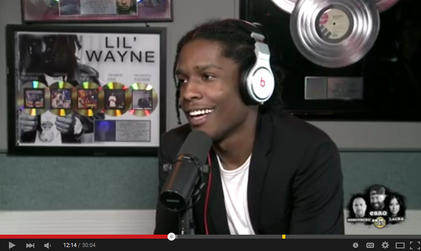 A$AP Stops By Ebro In The Morning ASAPonEbro