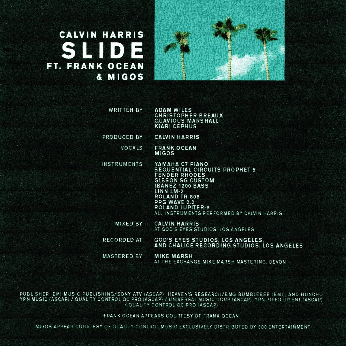 Calvin Harris x Frank Ocean x Migos Finally Introduce 'Slide' Joint Single C5No152VUAIZfVu
