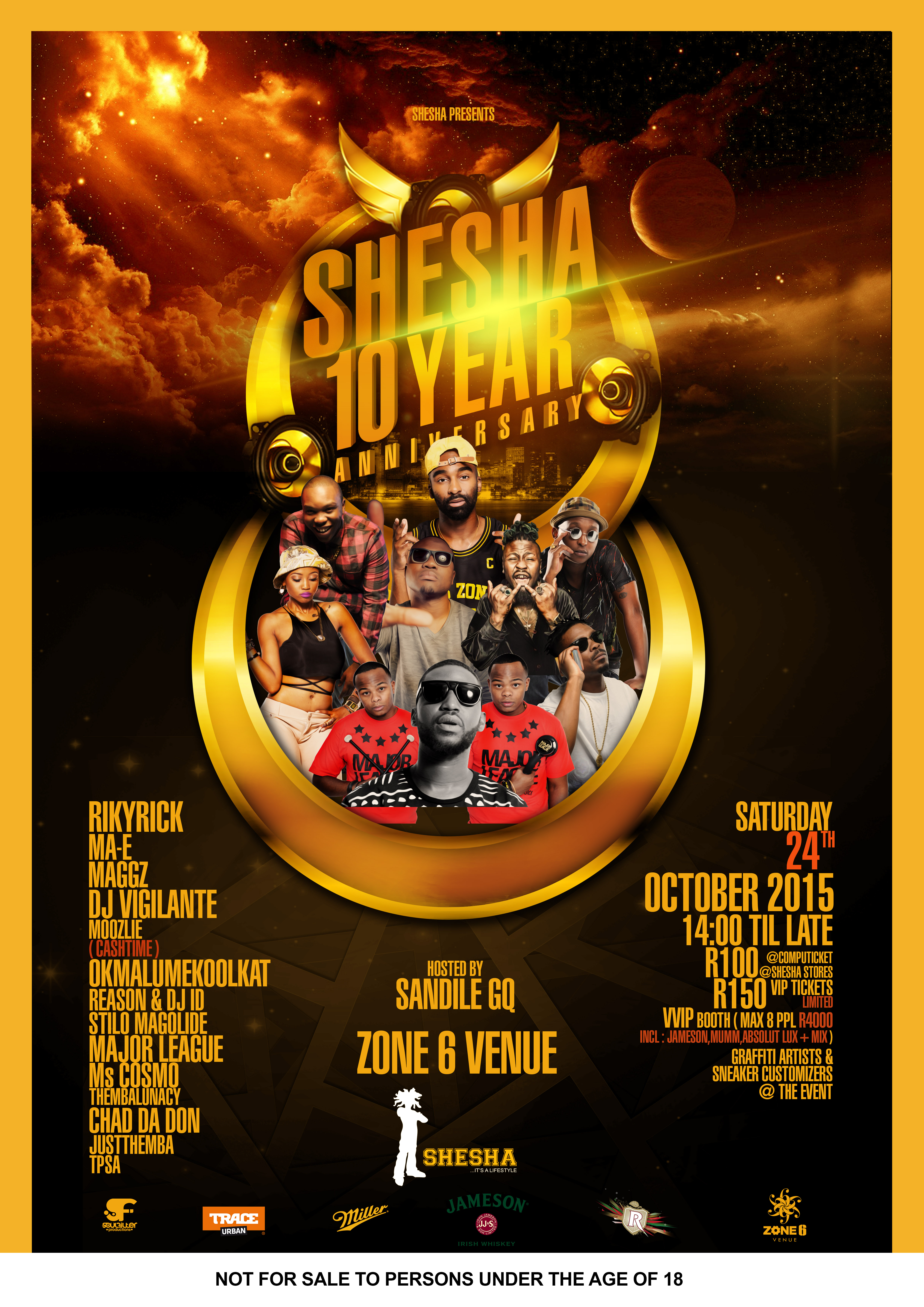 Shesha Store 10 Year Celebration Is Going Down This Weekend SHESHA 10 YEAR ANNIVERSARY BOUNDED