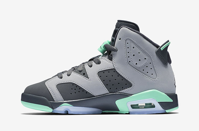 The Air Jordan 6 GS Green Glow air jordan 6 gs retro green glow 2