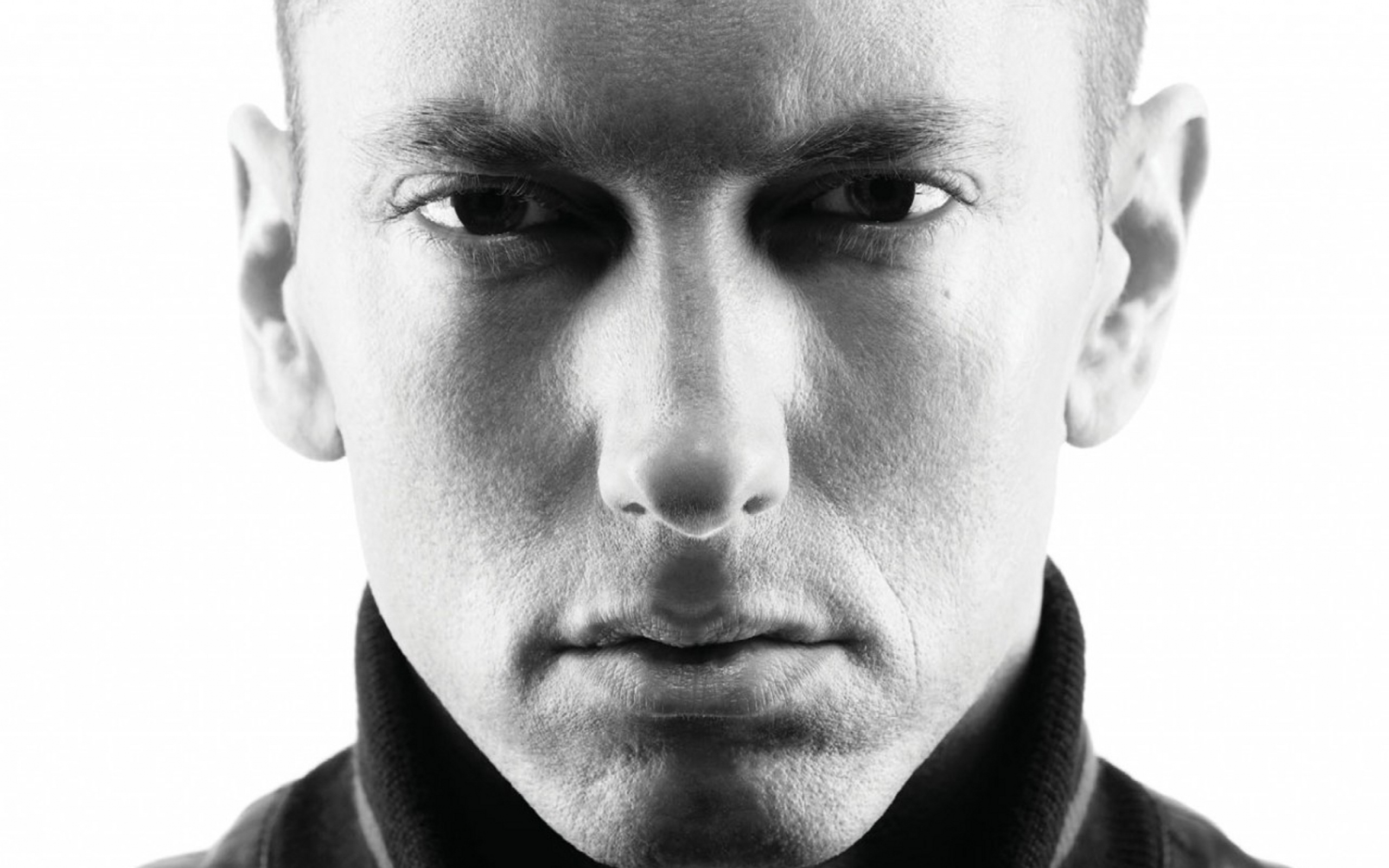 eminem Watch Eminem Talk About 'Kamikaze', 'Revival' Album Criticism, MGK & More eminem slim shady evil celebrity singer actor black white 97148 2560x1600