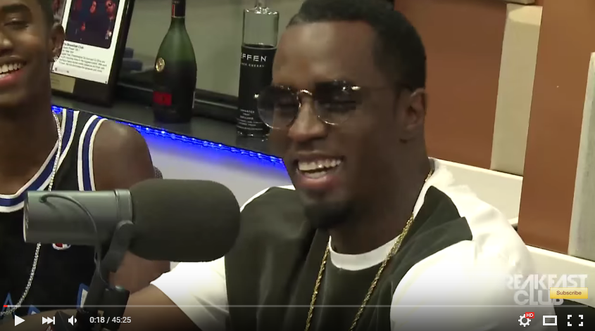 P. Diddy Interview at Power 105.1 – The Breakfast Club hh