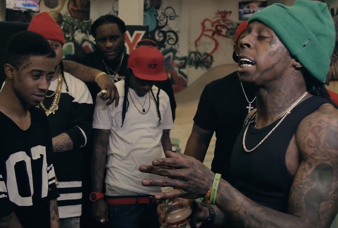 Weezy Takes More Shots At Birdman In New Young Money Cypher lil wayne cypher 1