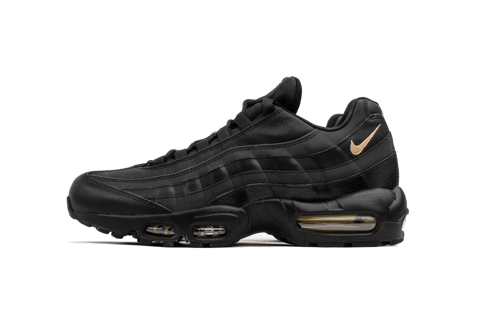 Nike Air Max 95 Premium SE 'Black & Gold' [SneakPeak] nike air max 95 premium se black gold 1