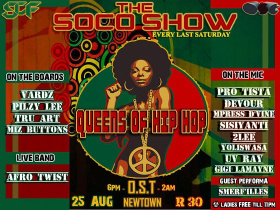 Queens of Hip Hop Event! soco august  o