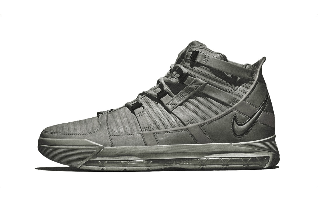 New LeBron James Nike LeBron 3 'Cool Grey' Sneaks Teased [SneakPeak] lebron james lebron 3 cool grey 00
