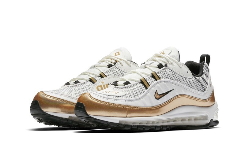 New Nike Air Max 98 UK 'White x Gold' [SneakPeak] img 4910 1