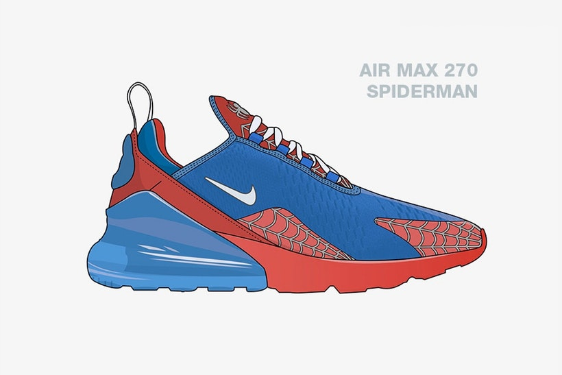 Checkout These Illustrated Avengers x Nike Collabs [SneakPeak] nike marvel superhero sneaker concepts 1
