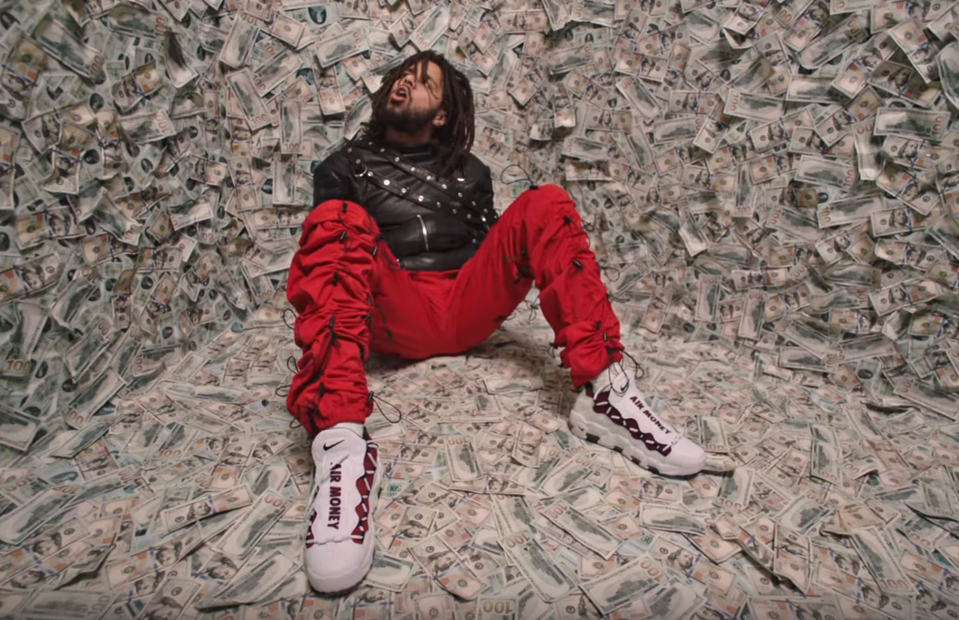 Watch J. Cole's Latest 'ATM' Music Video j cole atm nike air more money