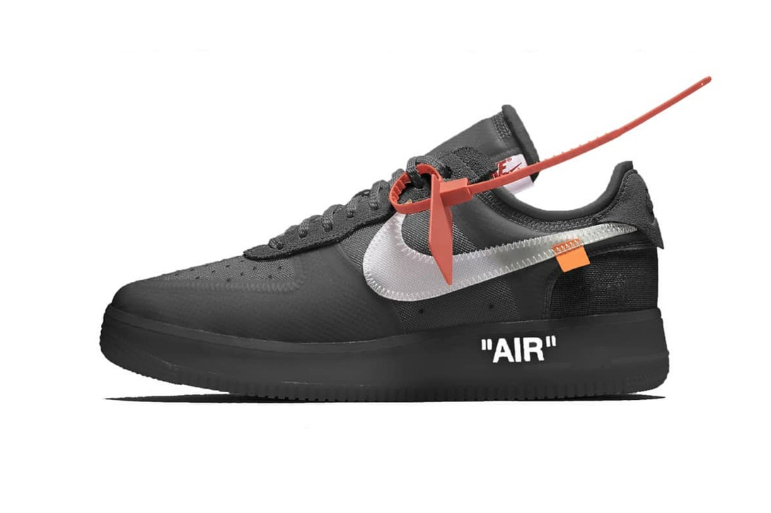 New Potential Virgil Abloh x Nike Air Force 1 Leaked virgil abloh nike air force 1 low black white 1