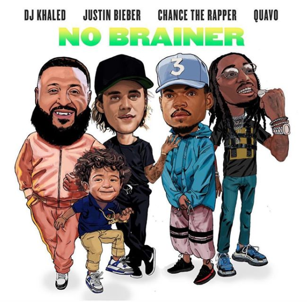 dj khalid Listen To DJ Khalid's New 'No Brainer' Song Ft. Chance The Rapper, Quavo & Justin Bieber Screen Shot 2018 07 27 at 11