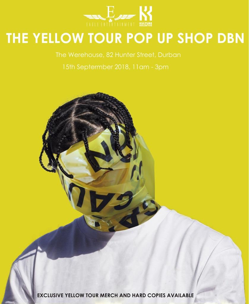 #theyellowtour #TheYellowTour Pop-Up Shop Coming To Durban! DmzbUOEW4AEFjdP