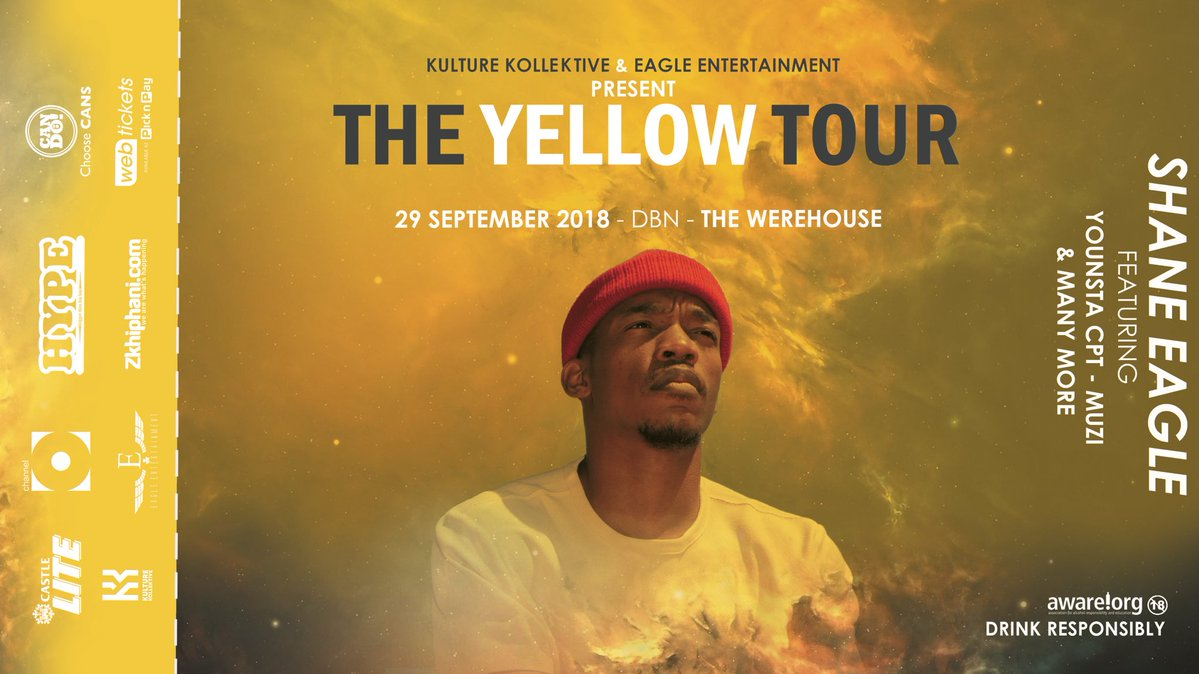Shane Eagle's #TheYellowTour Is Headed To DBN DncBCybW4AA0oXF