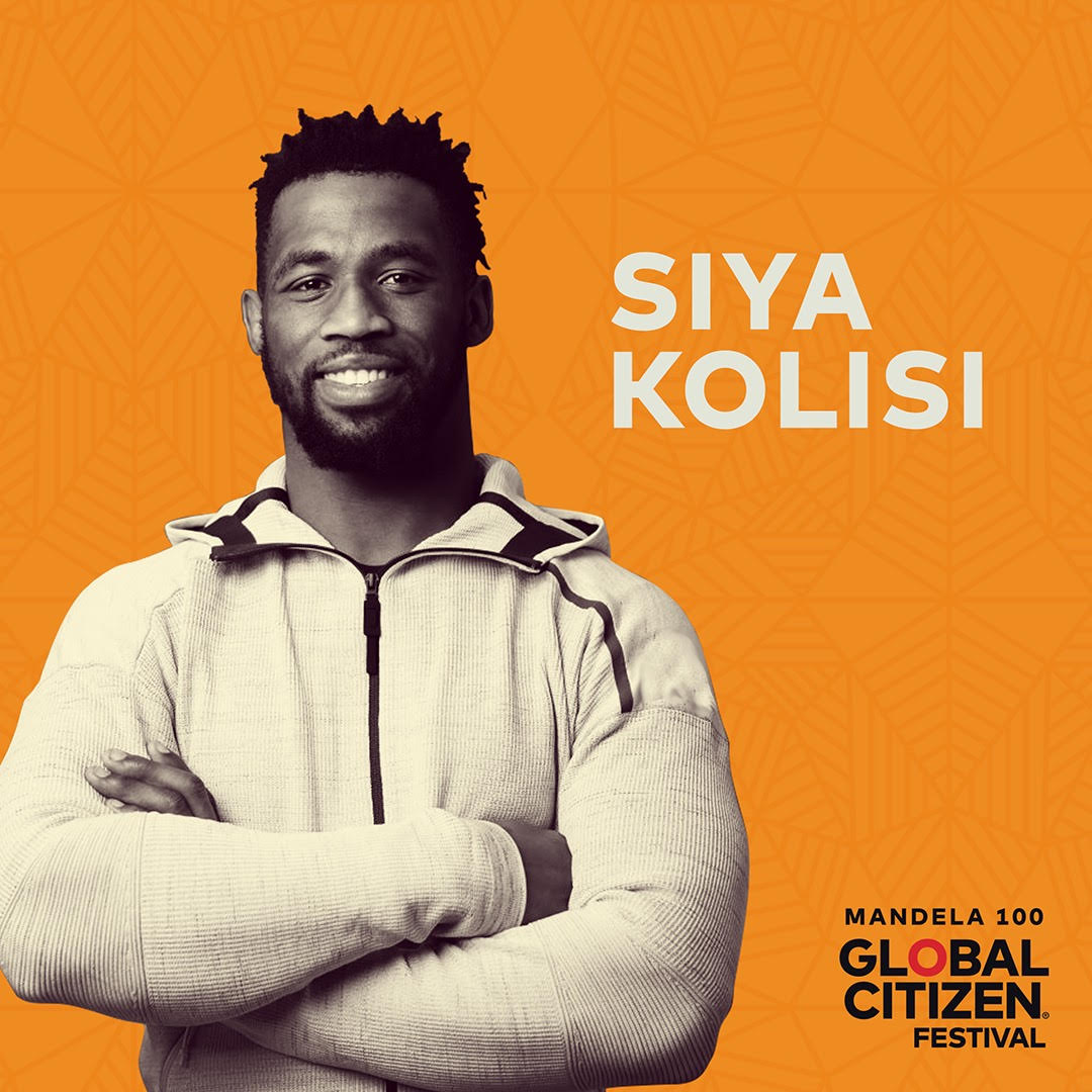 Siya Kolisi Announced As Global Citizen: Mandela 100 Advocate With Key Focus On Hunger & Nutrition Siya Kolisi Global Citizen Advocate 2018