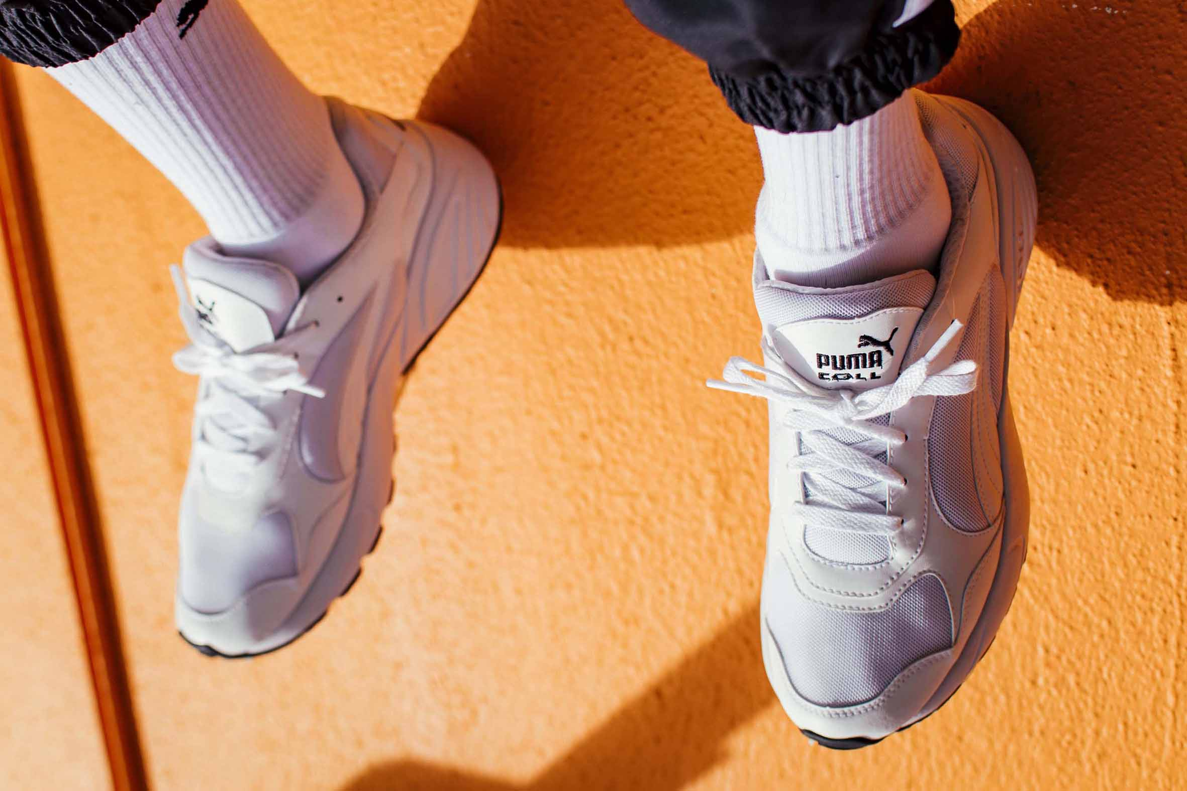 youngstacpt YoungstaCPT Wears Latest PUMA CELL Viper In White-On-White PUMA CELL Viper drop 2 pair lo