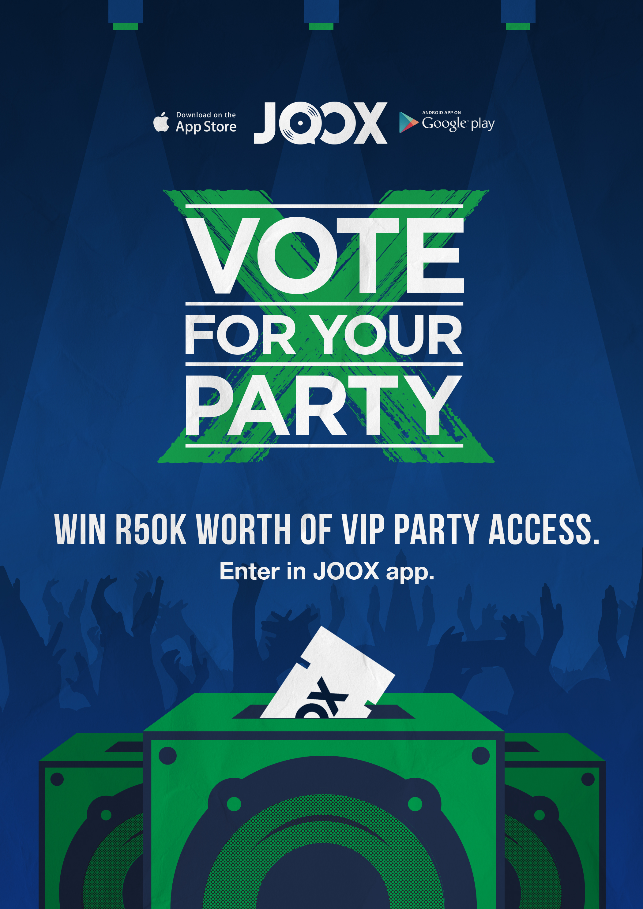 joox VOTE FOR YOUR PARTY! #VoteJOOX Elections Poster