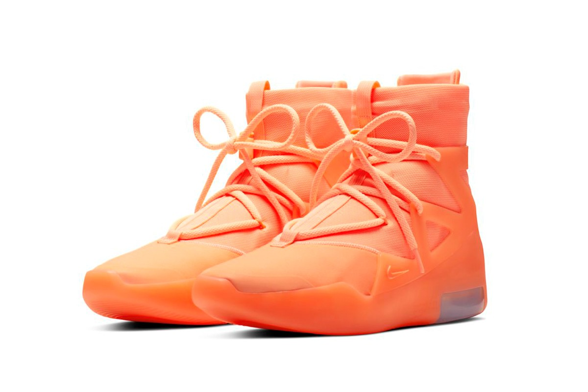 nike air fear of god 1 New Nike Air Fear of God 1 'Orange Pulse' & 'Frosted Spruce' Version Dropping This June https   hypebeast