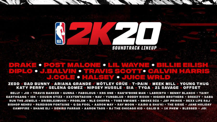 nba 2k20 'NBA 2K20' Soundtrack Features Tracks From Drake, J. Cole, Travis Scott & More [Listen] D 7 Xp1VUAAhH4Y