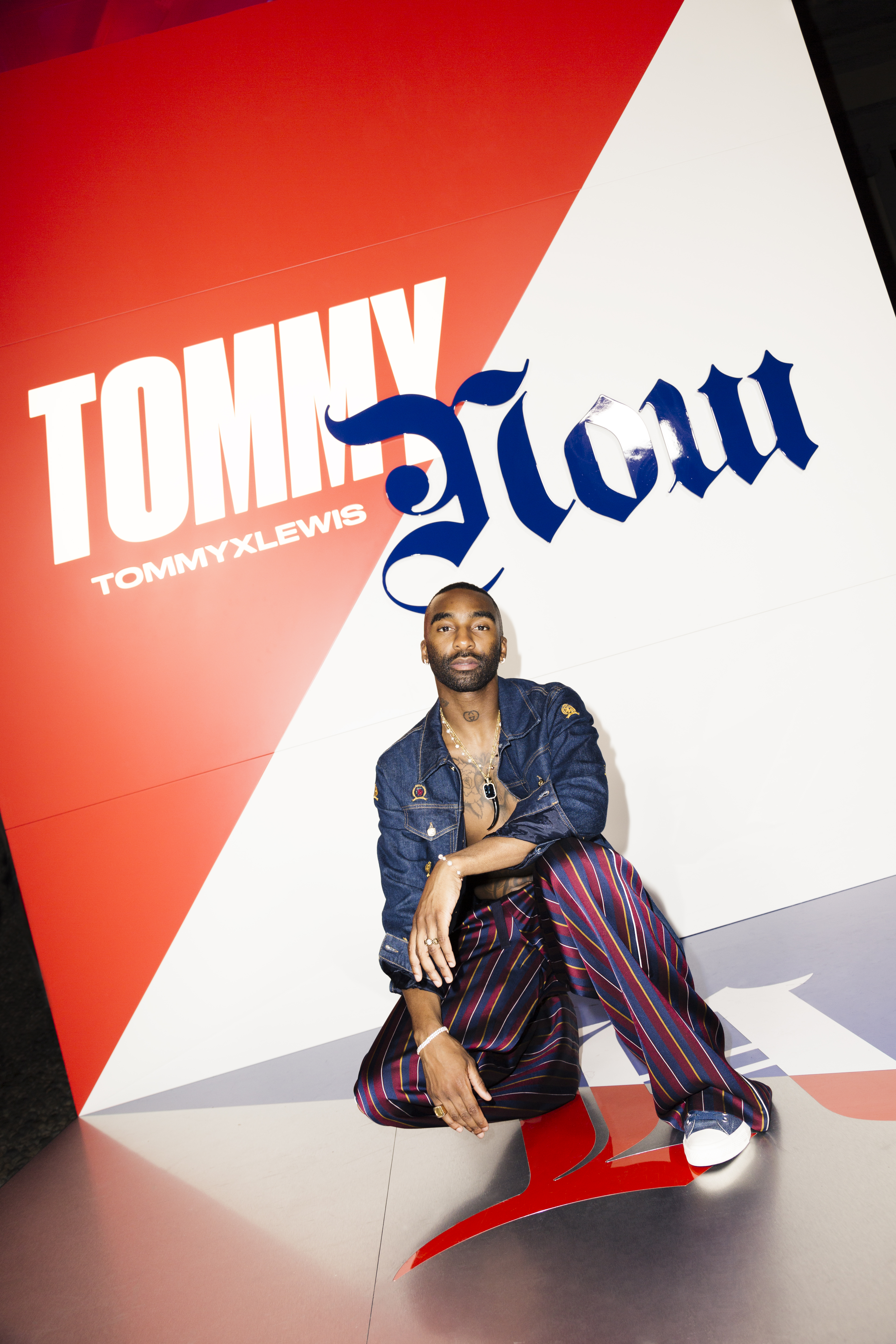 RIKY RICK WEARS TOMMY HILFIGER TO THE FALL 2019 TOMMYNOW TOMMYXLEWIS EXPERIENTIAL EVENT IN MILAN 6Y8A8781